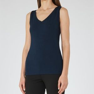 NEW REISS ONA TANK TOP IN NAVY SIZE XS